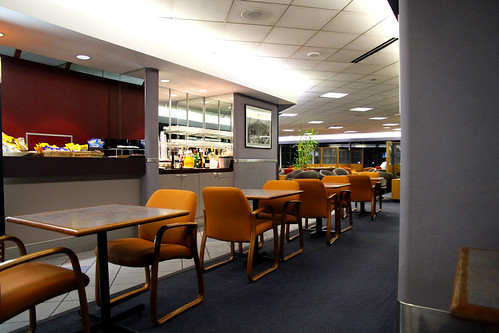 Air France Lounge - Looking Back from Buffet Area