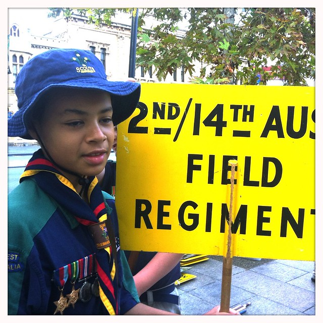 Look out for the 2nd/14th Aust field regiment section. #AnzacDay #adelaide