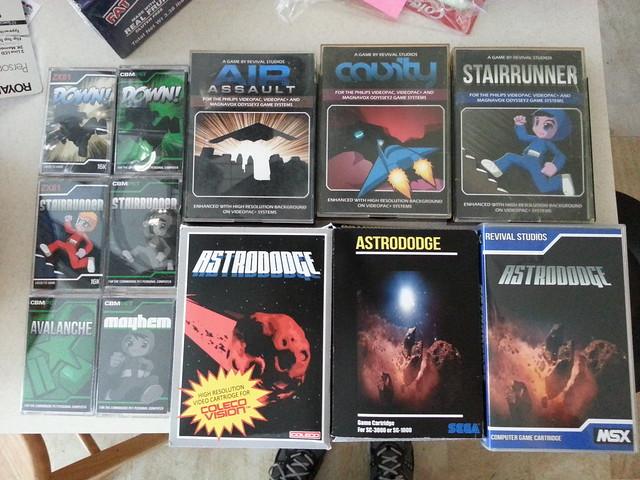 My Christmas presents finally arrived: ZX81, ColecoVision, Odyssey2, MSX, Sega SC/SG, Commodore PET
