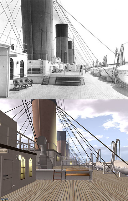 Titanic Second Life / Real Life Comparison