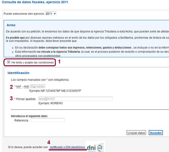 Imagen Acceso al servicio de consulta de datos fiscales por Internet