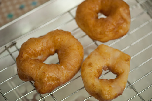 Doughnuts after the fry