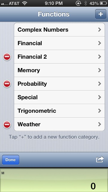 Defining PCalc function categories
