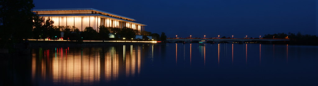 Kennedy Center late blue hour shot