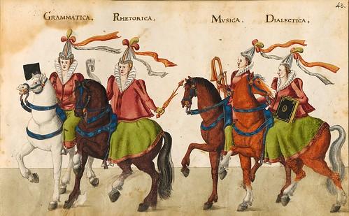 008-Sobre las siete artes liberales-Descripción de las ocho festividades celebradas durante los juegos…1596-Biblioteca Estatal de Baviera