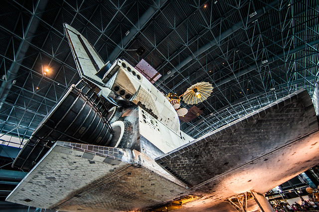 HDR - PP - Rear of Disco - Space Shuttle Discovery - OV-103 - Air and Space Museum - Udvar Hazy Center - Chantilly, VA