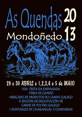Mondoñedo 2013 - As Quendas - cartel