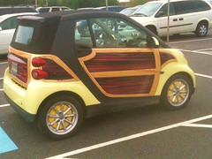 custom wood panel smart car 4659970566_aedb9c4bcf_b