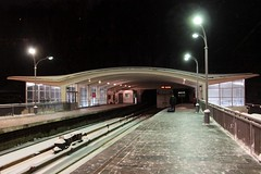Transition from viaduct to tunnel at Dnipro (Днiпро) station