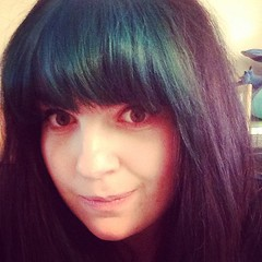 Can't decide if a blue fringe is too scene kid or not (it's really bright IRL!) maybe back to black tomorrow...hmmm