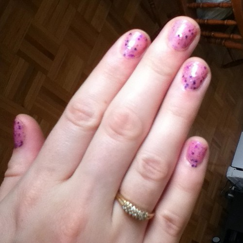 I love my new confetti nail polish! I feel like a cupcake <3