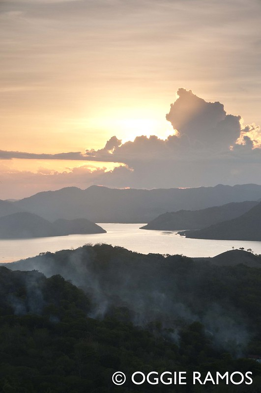 Coron - Mt. Tapyas Sunset View of Smoke and Karsts IV