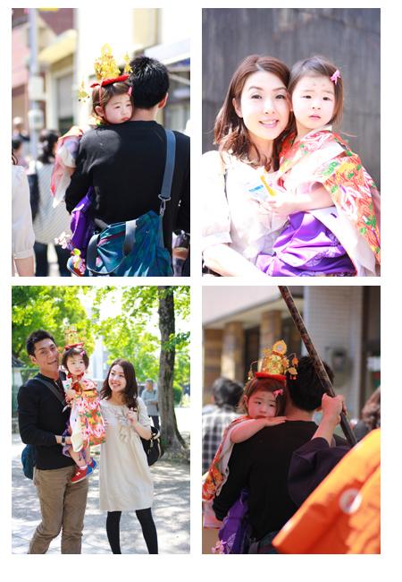 稚児行列 建中寺 名古屋市東区 屋外撮影 出張撮影 子供写真