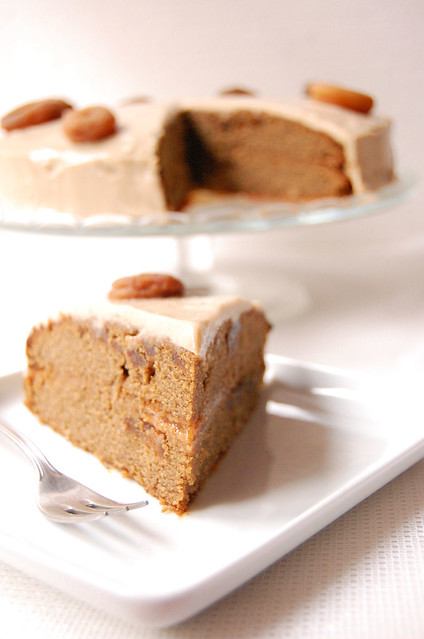 dried apricot, cinnamon and ginger cake