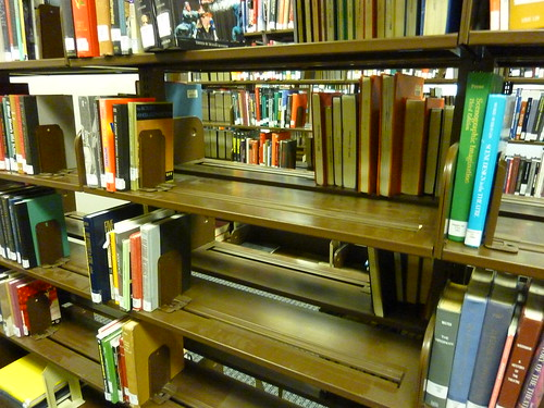 Image of cleared-out shelves in the UGL