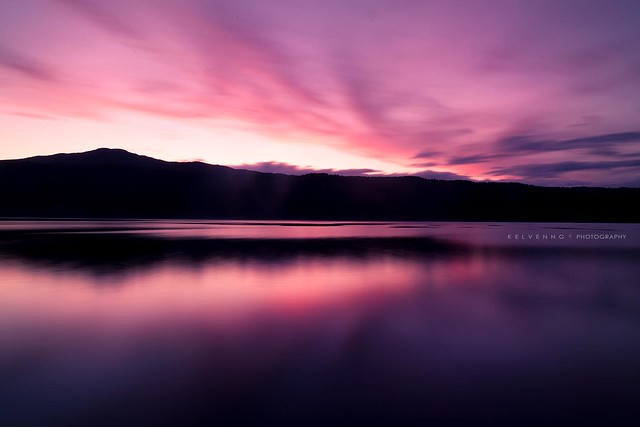 Sunset over the Loch Ness