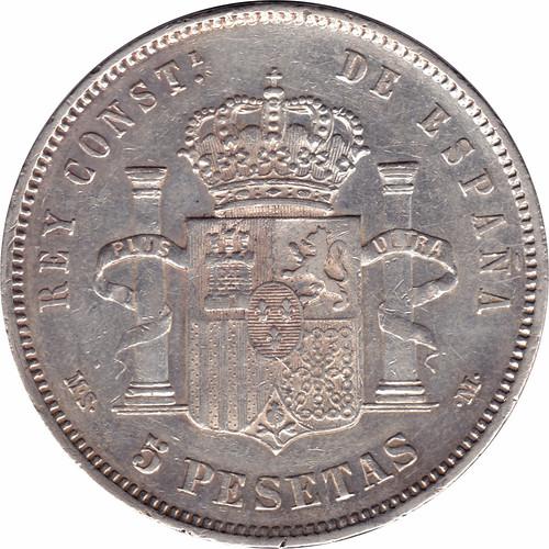 5 Pesetas Alfonso XII 1884 *18 *84 M.S.  M. 8859380932_6a204d950d