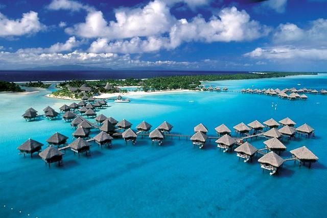 Le Meridien Bora Bora—Exterior Aerial View