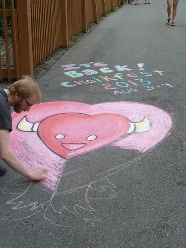 Chalk art at BuffaLoveFest