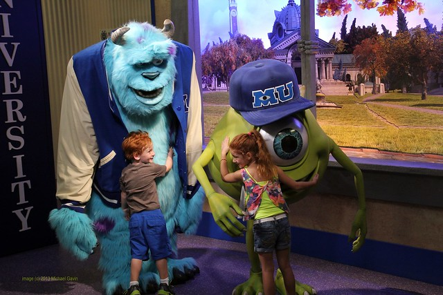 Monsters University meet-and-greet at Walt Disney World