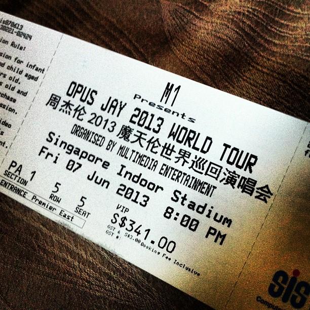 OCBC Titanium Mastercard - The card that takes you places.... like the Jay Chou World Tour Singapore Concert - Alvinology