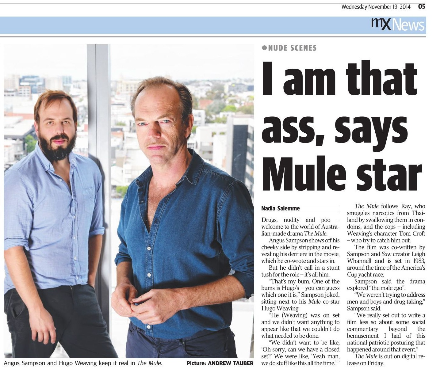 Hugo weaving nude Nude Photos 1