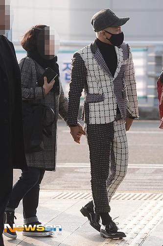 Tae Yang - Incheon Airport - 09jan2015 - Newsen - 04