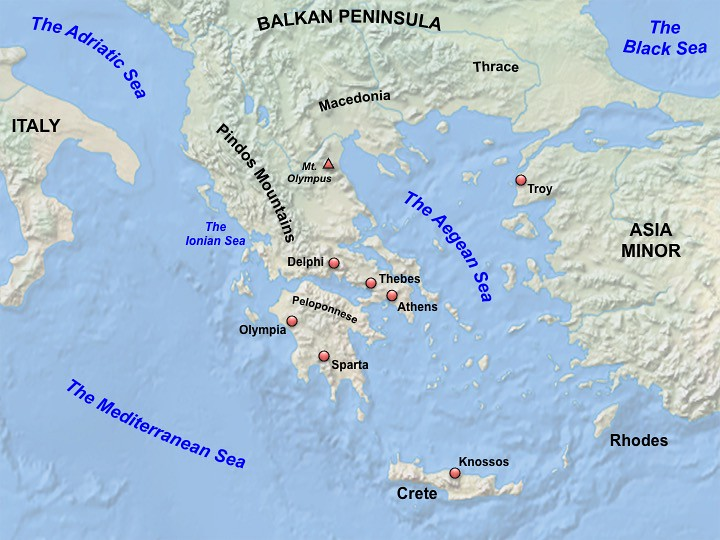Ancient Greece Map Map Of The Geography Of Ancient Greec