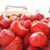 Countryside dessert. Fresh strawberries.  #instagood #strawberries with mint.  #miam #french #countryside #redandwhite #ilovefrance #loves_france #hello_france #instafrance #jaimelafrance #instatravel #seemylife #sunnyday #flashesofdelight #thehappynow #t