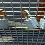 Padlocks on a bridge at Preston