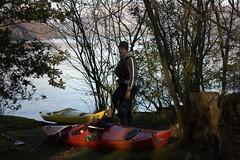 Greg on an island in Lake Windermere Image