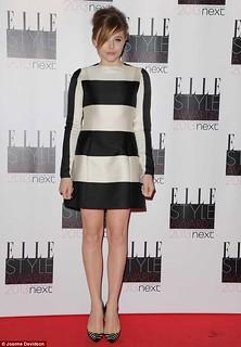 Chloë Moretz Monochrome Trend Celebrity Style Women's Fashion