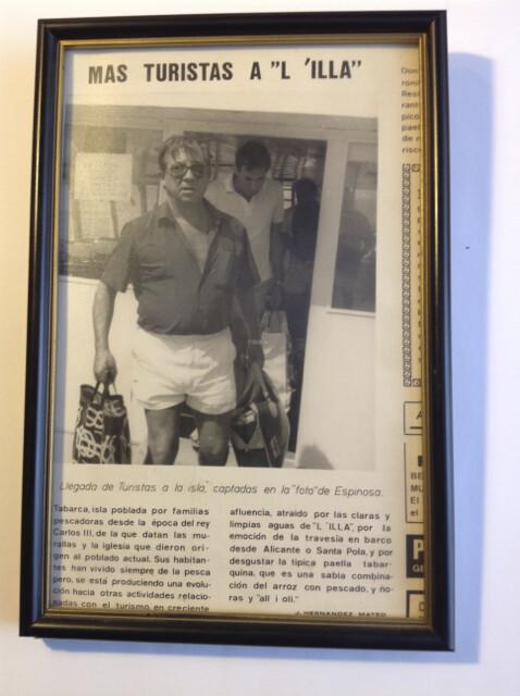 el primer turista en Tabarca