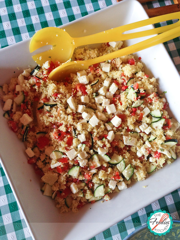 Couscous Tomato and Zuchinni Salad