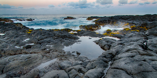 ocean beach rock clouds landscape hawaii lava kona 2013 keikibeach