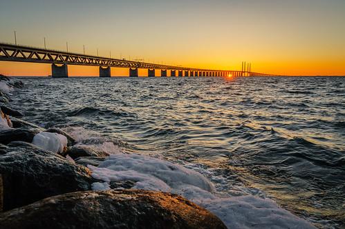 Wild water sunset