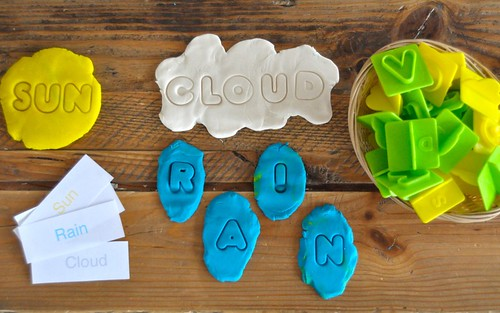 Weather Play dough Spelling