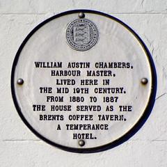 Photo of William Austin Chambers white plaque