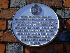 Photo of James II of England, Thomas Southouse, and Richard Marsh white plaque