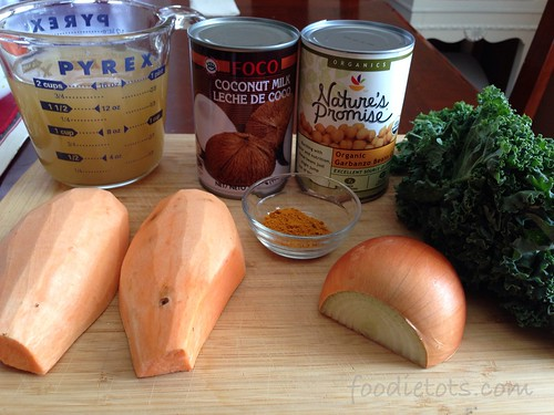 coconut kale sweet potato stew ingredients