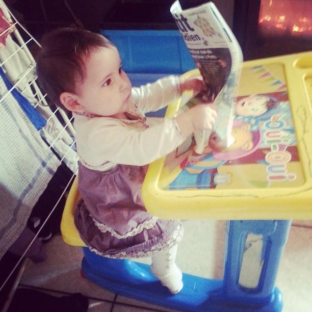 Lis le petit quotidien comme une grande #blog #blogueuse #baby #bebe