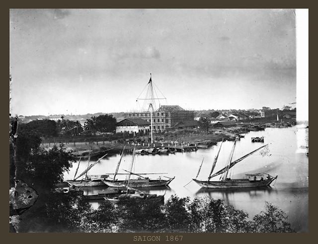 Saigon 1867 - Mât des signaux