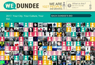 Screenshot of We Dundee web site
