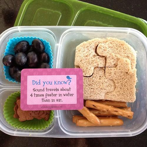Puzzle pieces sandwich #easylunchboxes #lunchbox_love #kidslunch