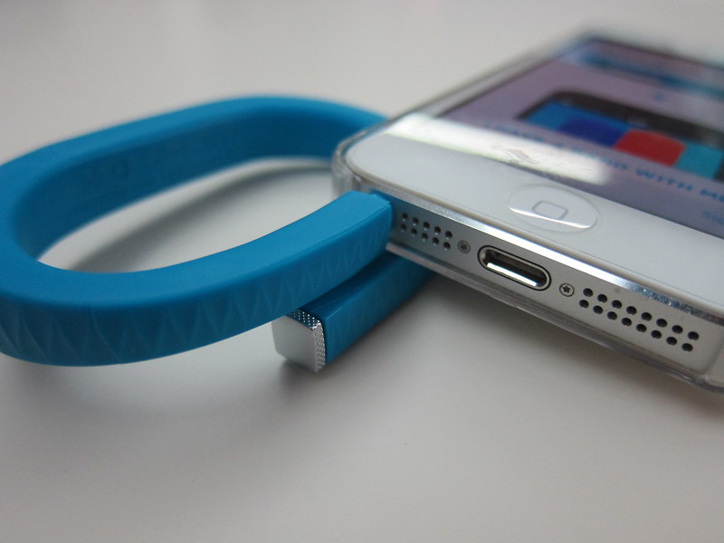 Jawbone UP - Plugged Into iPhone 5