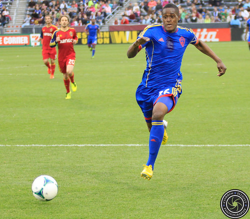 Deshorn Brown (Rapids), Colorado Rapids vs Real Salt Lake Apr. 6th 2013 by Corbin Elliott Photography