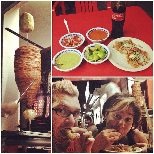 86/365 SHOVE IT IN MY TACO HOLE! We have arrived in the land of tacos al pastor (my fav food EVER). #365days #Mexico