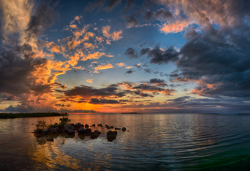 ocean sunset panorama usa cloud reflection gulfofmexico water weather night keys landscape gulf unitedstates florida keylargo pwpartlycloudy