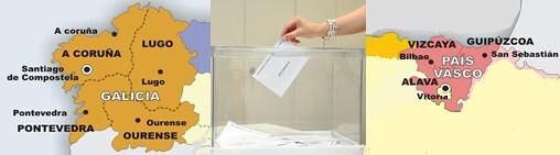 Elecciones autonómicas en Galicia y en el País Vasco