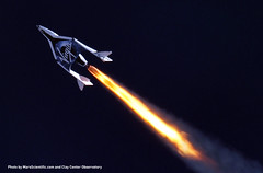 SS2 flies supersonic for the first time